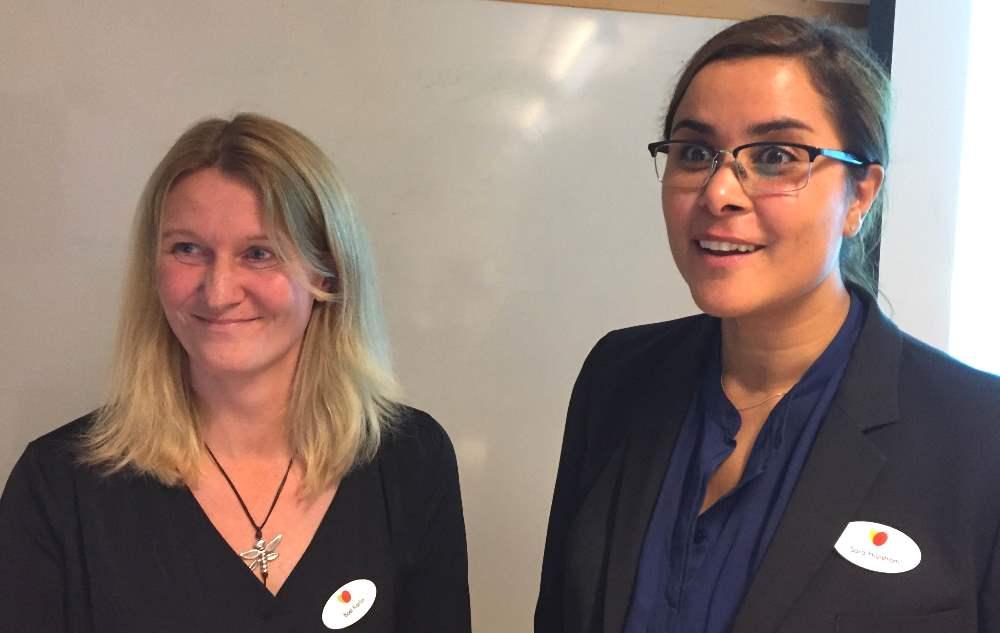 Svenskt Demenscentrums Boel Karlin, medie- och webbpedagog och Sara Hjulström, koordinator, berättade om projekt kring musik och litteratur som syftar till att förbättra vardagen för personer med demenssjukdom.