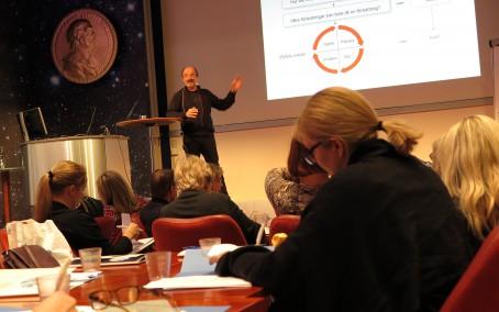 Ulf Andersson, Memeologen, Västerbottens läns landsting, talade om att använda lärande som ledarskapsmetod.